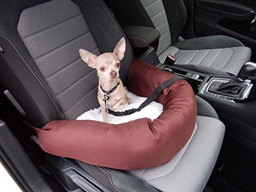 Le siège-auto pour chien parfait comprenant une ceinture et une fixation de siège avec ceinture pour Peugeot 306 Break