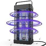 DANGZW Insektenvernichter Elektrisch, Insektenfalle Mückenlampe 16W 2500V mit UV-Licht, 360° Moskito Mörder Chemiefrei für Innen Schlafzimmer und Gärten