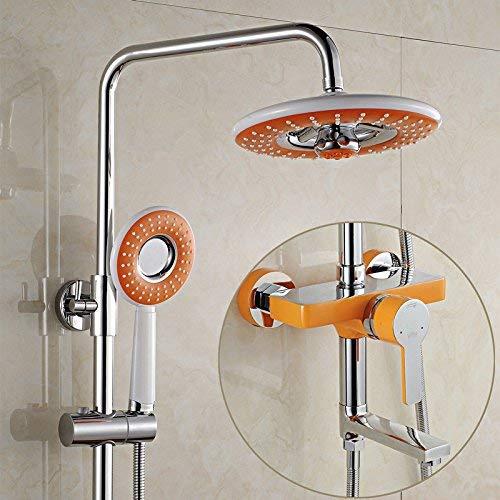 De drie douchesets van koperen badset wand voor het optillen van de koudwaterkraan van de gieter G Vistoso