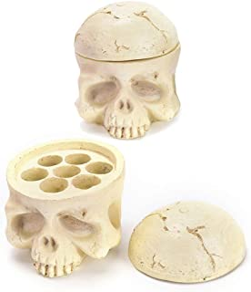 Jconly Tattoo Ink Cup Holder 7 Holes Skull Head Stand Hard Resin Tattoo Pigment Ink Cup Caps Holder Stand For Tattoo Supplies Permanent Makeup Tattoo Kit Tattoo Accessory