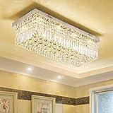 Llevada moderna Techos de luz cristal lamparas de techo en casa Decoración Lustre lamparas de techo lámpara de techo casa lamparas, plata, blanco cálido