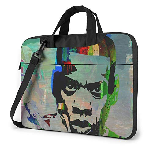 Vsldfjc Music Jay-Z Stylish Customized Laptop Shoulder Bag, Suitable for 13-15.6 inch MacBook Pro/Air and Most Other Laptops, Portable Laptop Bags, Briefcase Protective Covers