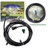 Aspersor Trampolín Set,Trampoline Sprinkler Mist Cooling System, Water Play Sprinklers Pipe Parque Acuático Juegos De Verano Yard Toys para Niños Libre Aspersores 8-20M,11m