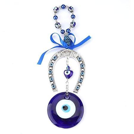 Perle blu malocchio perline ornamento amuleto delicato ciondolo in vetro blu casa protezione fortunata appeso a parete Decor - D