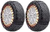 Wangcong Cadenas de Nieve para neumáticos, Cadenas de Nieve de automóviles, Cadenas de tracción de neumáticos, neumáticos Gruesos ensanchados Cadena de Nieve para automóviles, vehículos todoterr
