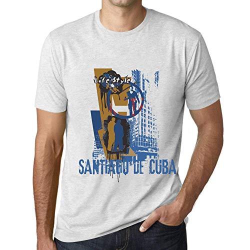 One in the City Hombre Camiseta Vintage T-shirt Gráfico SANTIAGO DE CUBA Lifestyle Blanco Moteado