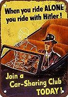 Car-Sharing Club 金属板ブリキ看板警告サイン注意サイン表示パネル情報サイン金属安全サイン