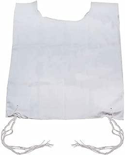 GreenfieldÆs 100% Poly Cotton Tallit Kattan Arba Kanfot Slit Neck Two Hole Size 24 (24ö W X 55ö L) with Handmade Thin Tzitzis (50 cm long) Ashkenaz Standard Tied