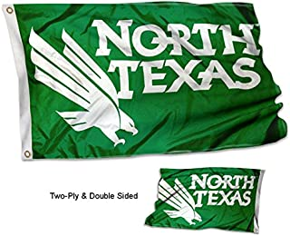 College Flags and Banners Co. North Texas Mean Green Double Sided Flag