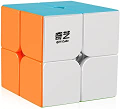 D-FantiX Qiyi Qidi S 2x2 Speed Cube Stickerless Puzzle Cube for Kids