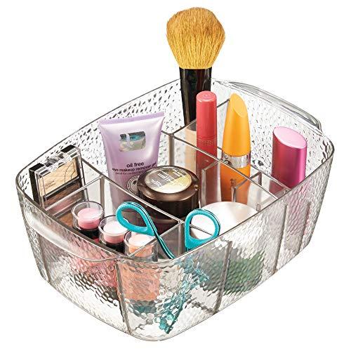 iDesign Kosmetik Organizer, Sortierkasten mit Struktur für Make-up aus Kunststoff mit vielen...