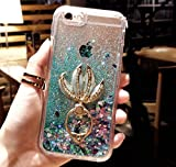 iPhone 5/5S/SE/5C Case,iPhone 5/5S/SE/5C Liquid Mermaid Kickstand Case,Goodaa Luxury Bling Elegant Mermaid Fish Tail Kickstand Shiny Liquid Glitter Quicksand Case for iPhone 5/5S/SE/5C(Green)