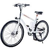 26 Pulgadas Bicicleta Eléctrica, Off Road-Bicicleta De Montaña, Pedal Asistida Cojín De Bicicleta Eléctrica Grasa Frenos De Disco Hidráulico De Amortiguación para Hombre De La Bici