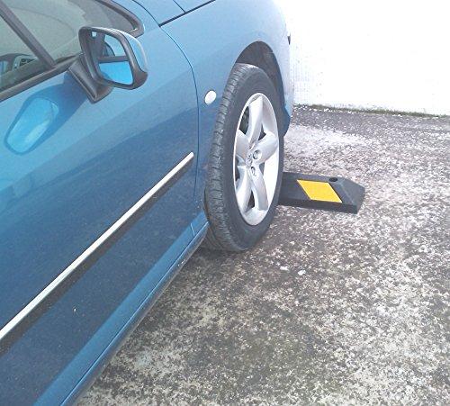 Einzel Gummi Parkplatzbegrenzung für Parkplätze und Garagen 55x15x10cm - 9