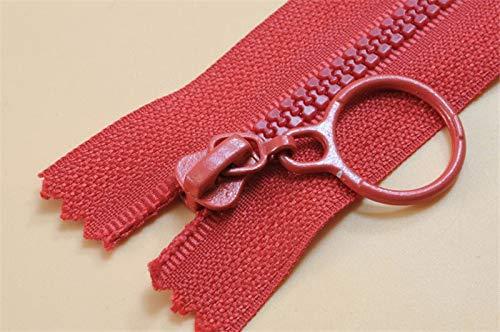 LKJH No. 3 hars ritsen for het naaien van decoratieve kinderen kleur ritssluiting slaapzak ritssluiting for kledingstuk accessoires (Color : Red, Size : Opening 60cm)