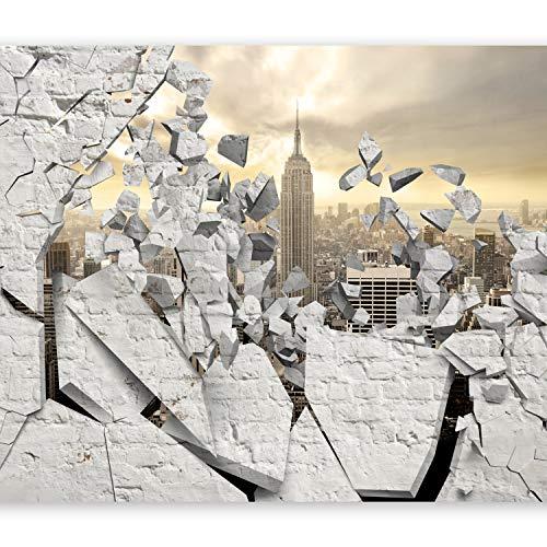 murando Fototapete Fenster nach New York 400x280 cm Vlies Tapeten Wandtapete XXL Moderne Wanddeko Design Wand Dekoration Wohnzimmer Schlafzimmer Büro Flur Stadt City New York d-A-0045-a-b