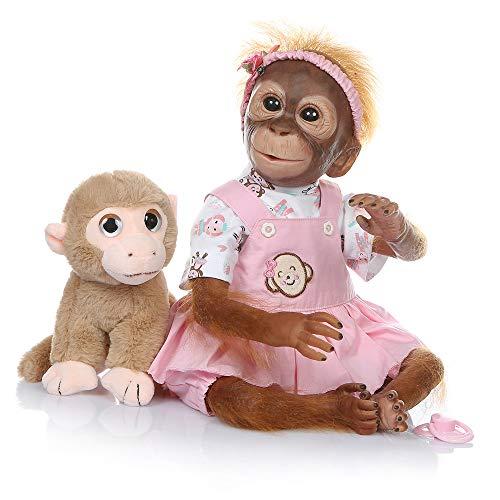 ZIYIUI Bebes Reborn niñas Muñecas Reborn Silicona Reales Recien Nacidos Toddler niño Realista Baby Dolls Girls Ojos Abiertos Baratos Muñecos Reborn Originales Bebe Reborn Verdadero 55 Cm (4)