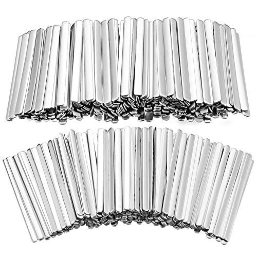 500 Piezas 85 mm Tiras de Aluminio Adhesivas Tiras de Puente de Nariz Alambre de Aluminio para Cubierta de Cara Manualidades