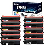Compatible 11 Pack (5BK/2C/2M/2Y) TN431(TN-431) Toner Cartridge Replacement for Brother HL-L8260CDW,HL-L9310CDWT,DCP-L8410CDW;MFC-L8610CDW,MFC-L8900CDW,MFC-L9570CDW Printers.