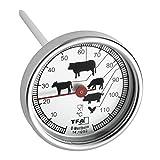 TFA 14.1002.60.90 Termómetro de Cocina para rustidos, Acero Inoxidable, Blanco