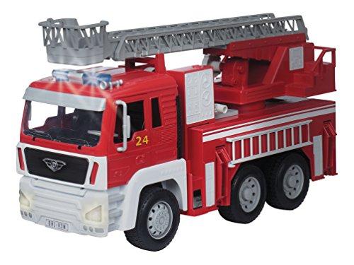 DRIVEN by Battat WH1001Z Standard Series Fire Toy Escalera Extensible, Luces y Sonidos - Camiones y vehículos de Trabajo para niños a Partir de 3 años, Rojo, Escala 1: 16