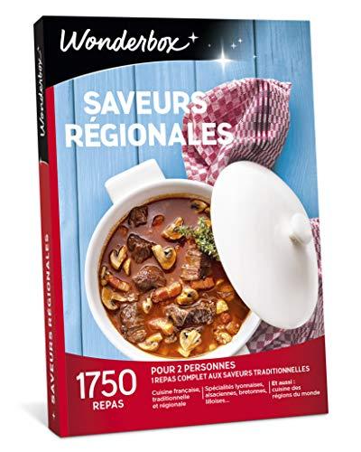 Wonderbox - Coffret Cadeau - SAVEURS REGIONALES - Idée cadeau fête des mères 1685 repas aux saveurs traditionnelles !