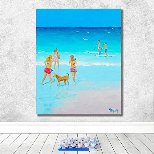 DIY Digitale Schilderij Frame Digitale Kleurplaten Home Decoratie Foto Paard Decoratie 40x50cm Frameless Gh06118