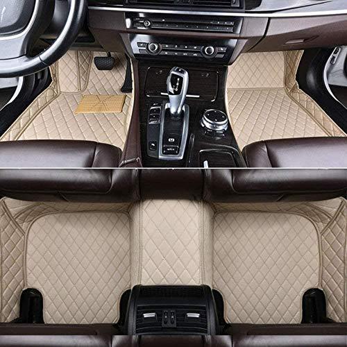 Alfombrillas Coche para Hyundai Santa Fe 2013 2014 2015 3ra generación Alfombras Coche Y Moquetas para Coches, Beige
