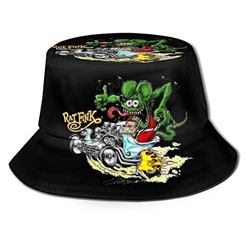 Cappello da berretto a Testa Alta con Cappuccio a Forma di Cappello da uomo in Maglia da uomo di cartone animato Alla Moda Rat Fink