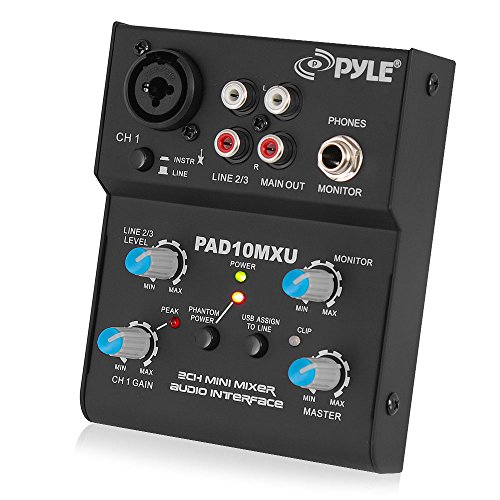 Why Choose Pyle 2-Channel Audio Mixer - DJ Sound Controller Interface with USB Soundcard for PC Reco...