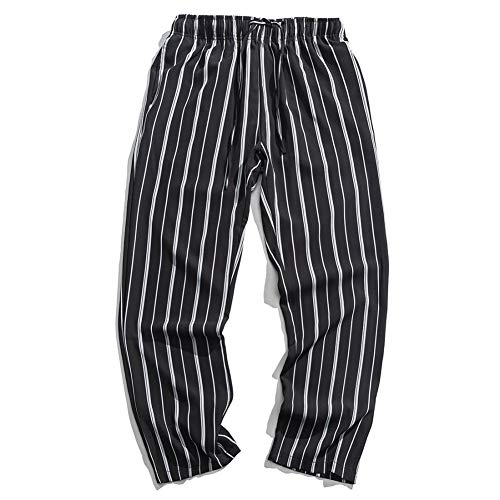 HNRLSL Pantalones Harem Cargo Pantalones de Rayas Harem Hombres Casual Pantalones de chándal Activos Bolsillos Harajuku Hip Hop Joggers Hombre Skateboard Swag Pantalones