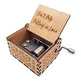Youtang - Mini carillon con manovella in legno inciso, 18 note, carillon per bambini