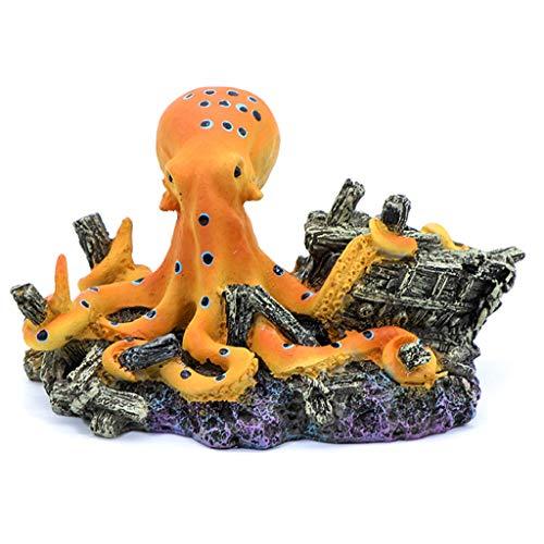 LAOLEE Octopus Treasure - Baúl del tesoro para acuario, decoración vintage
