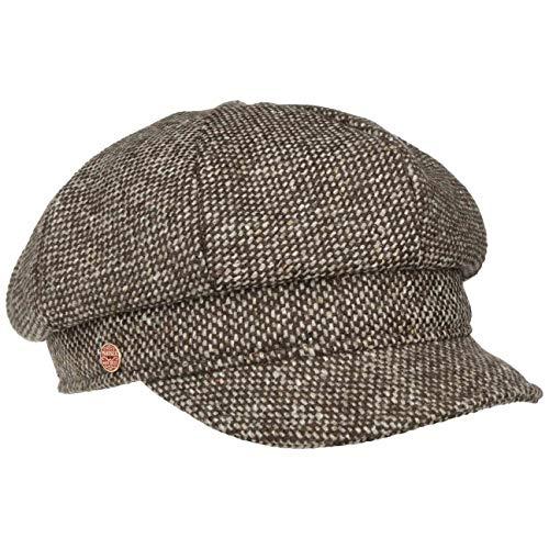 Mayser Mayser Tweedy Balloncap Ballonmütze Damencap Wintercap Wollcap Wollmütze Mütze Damenmütze Damenkappen Wintercaps (M (56-57 cm) - braun)