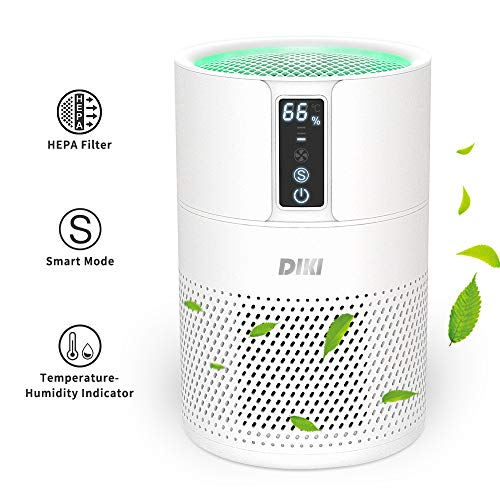 DIKI-Air-Purifier-for-Home-HEPA-Air-Filter-Smart-Air-Purifier-with-Negative-Ion-Generator-up-to-25M-CADR-150m-h-Temperature-and-humidity-indicator-Air-Cleaner-for-Allergies-Smoke-Pet-Dander