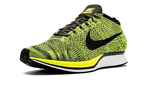 Nike flyknit racer - Hardloopschoenen, Man, kleur Groen (volt/zwart-sequoia), maat 39