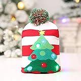OHQ LED Leuchten Beanie Mütze Strickmütze für Männer Frauen Jungen Mädchen Wintermütze Hut Mütze Stricken LED Xmas Weihnachten Hut Mütze, Winter Schnee Hut Pullover hässliche Urlaub Hut Beanie Cap