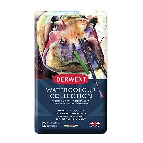 Derwent - Lápices de colores (Paquete de 12)