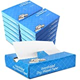 [6000 Pack] Interfolded Food and Deli Dry Wrap Wax Paper Sheets with Dispenser Box, 15 X 10.75 Inch