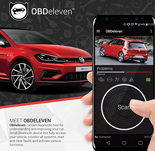 OBDeleven NexGen Bluetooth Diagnostic Code Reader Car Scanner for Daily and Advanced Usage