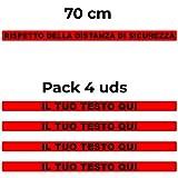 4 Adesivi di sicurezza personalizzati con pellicola protettiva, ideali per il pavimento. Disponibile in vari colori