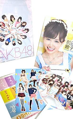 AKB48 オフィシャルカレンダーBOX 2012 付録 選抜12人クリアファイル 応援うちわ メッセージシール