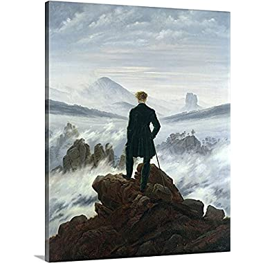 Caspar (1774-1840) Friedrich Premium Thick-Wrap Canvas Wall Art Print entitled The Wanderer above the Sea of Fog, 1818 16 x20