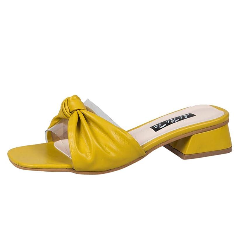 チューインガムラップトップ検査官Top Homie レディース スクエアトゥ サンダル 3cm ローヒール かわいい 大きいサイズ ミュール カジュアル 室内 オフィス 靴