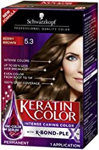 Schwarzkopf Keratin Color Anti-Age Hair Color Cream, 5.3 Berry Brown (Packaging May Vary)