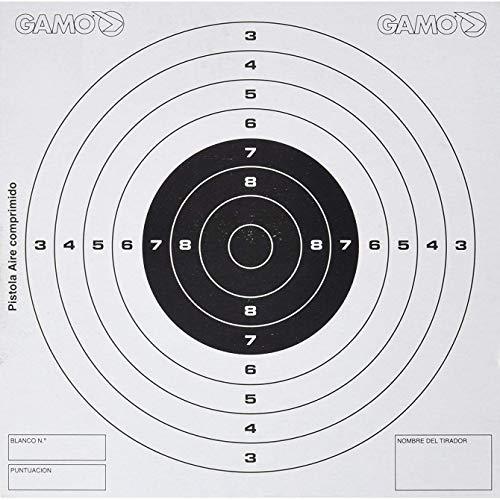 Gamo Pistola Paquete de 50 Dianas de Competición, Hombre, Negro, Talla Única