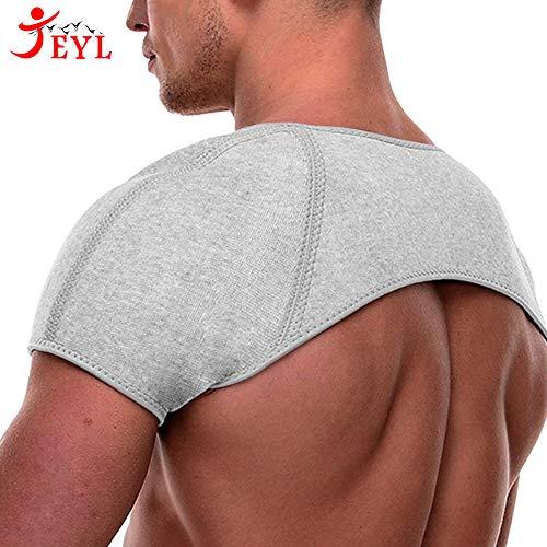 五十肩予防に 肩サポーター JEYL スポーツ 両肩 サポーター 防寒保温 けが防止 肩用サポーター 肩こり解消 冷え性 肩の痛み 脱臼 対策にも - M
