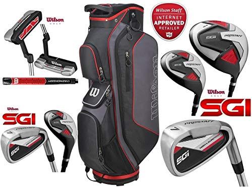 Wilson Prostaff Tous Les Graphite SGI 13 Piece Ensemble Complet Club Golf Package Tous Les fers à...