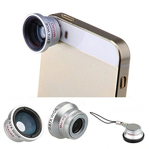 PhilMat 3 in1 grandangolo macro fisheye dell'obiettivo della fotocamera di aspirazione universale magnetico per xiaomi iphone