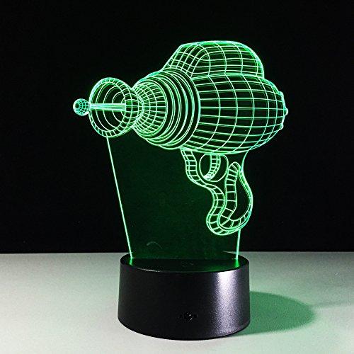 3D lamp bedlampje boormachine nachtlampje voor de kinderkamer, led-lamp voor de woonkamer perfect geschenk voor kinderen